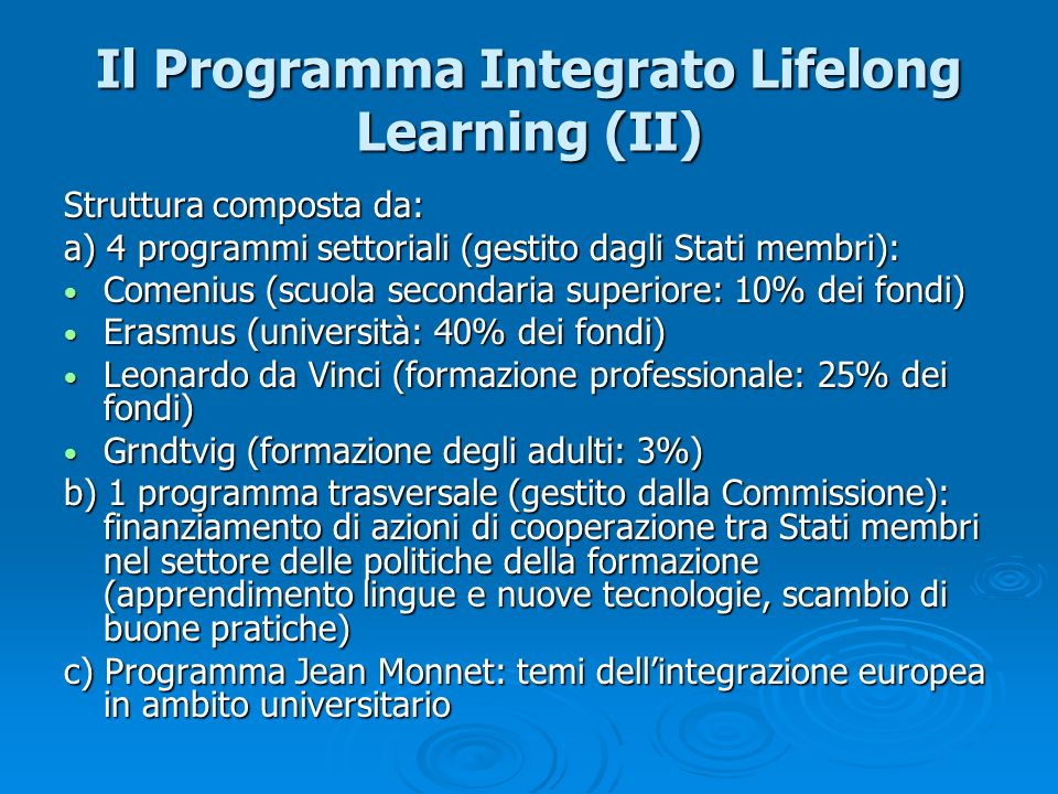 Il Programma Integrato Lifelong Learning (II)