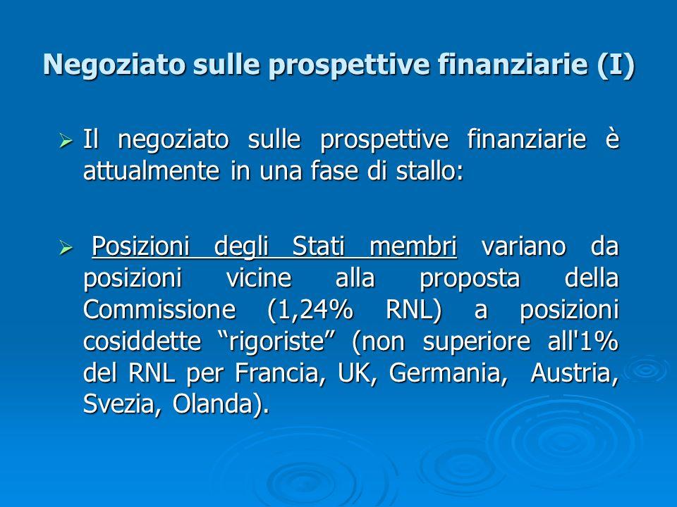 Negoziato sulle prospettive finanziarie (I)
