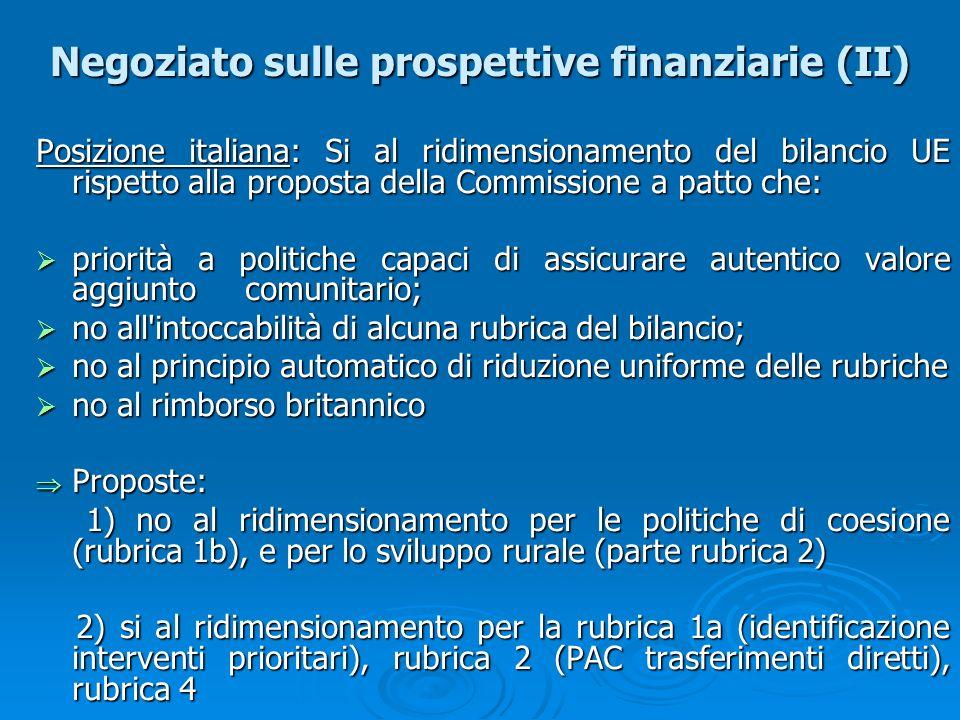 Negoziato sulle prospettive finanziarie (II)