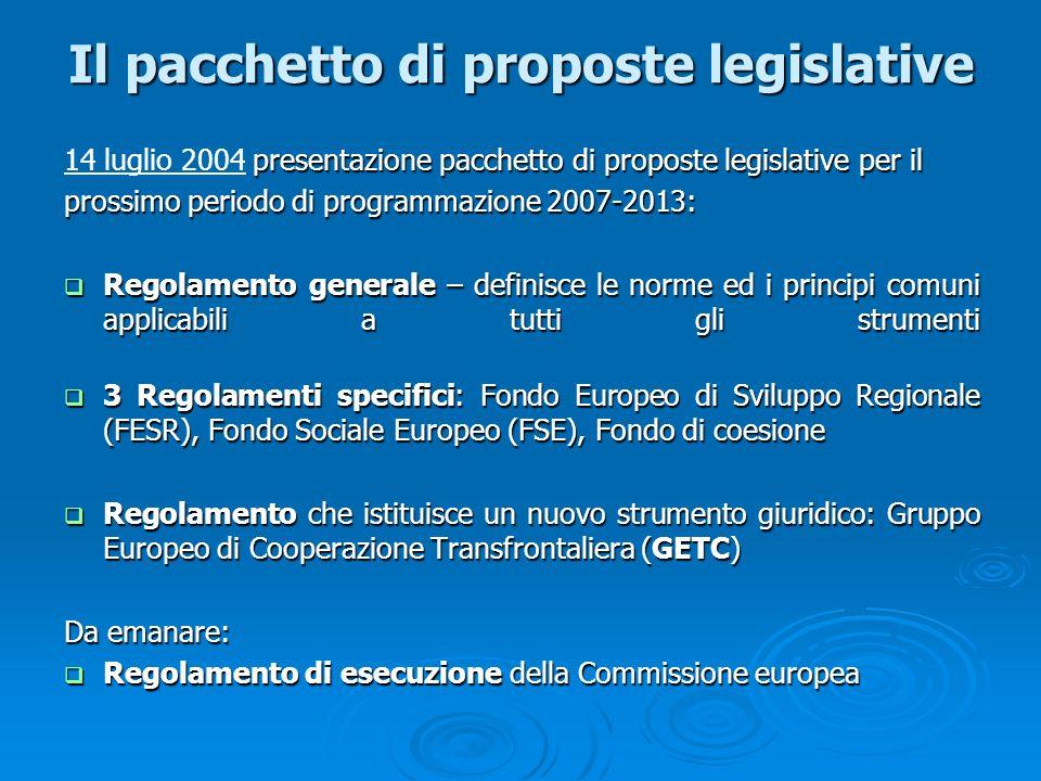 Il pacchetto di proposte legislative