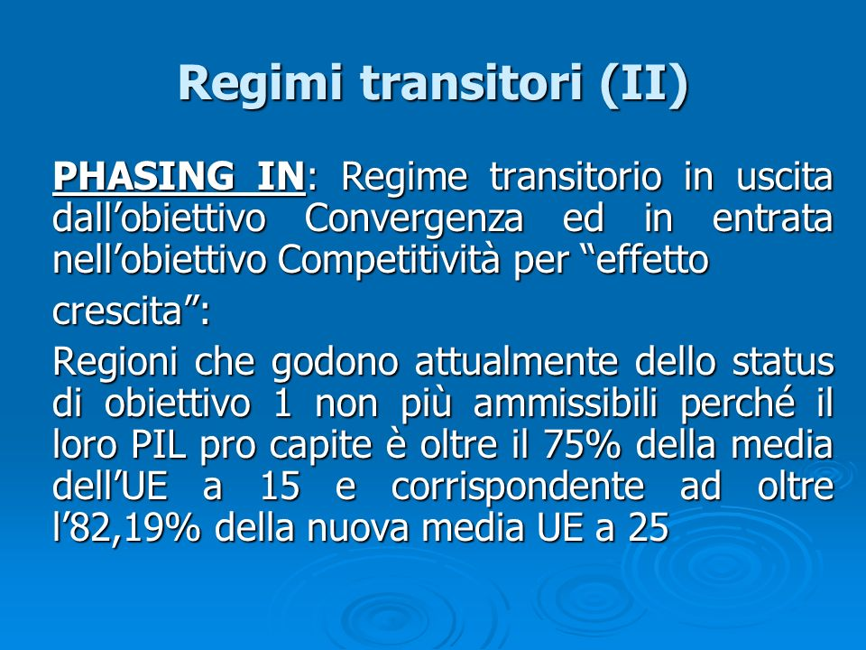 Regimi transitori (II)