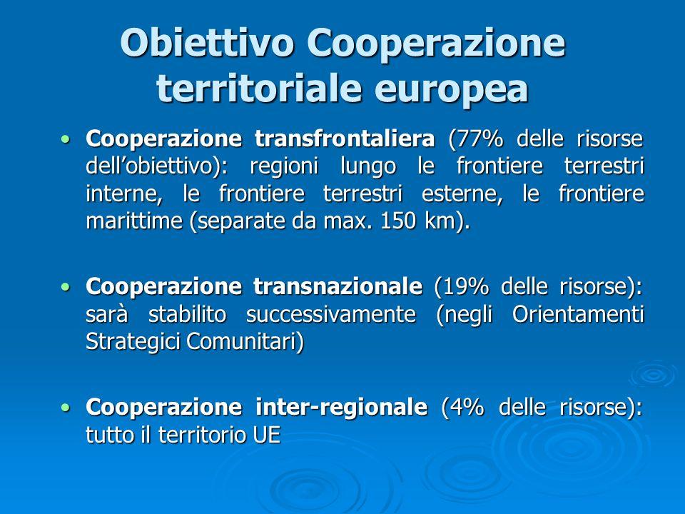 Obiettivo Cooperazione territoriale europea