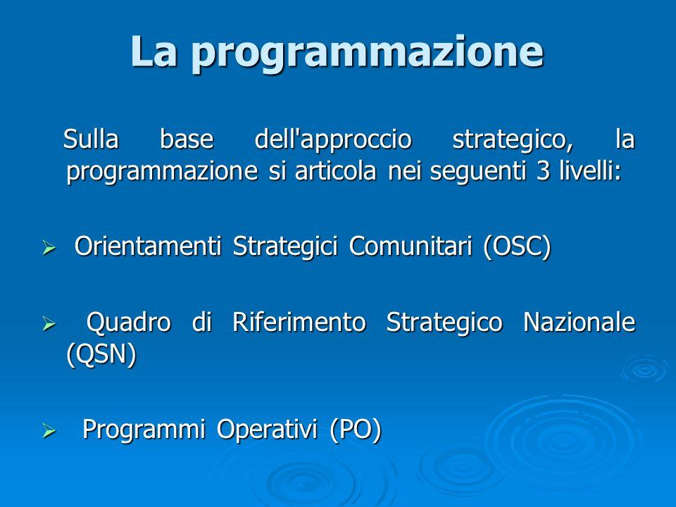 La programmazione Orientamenti Strategici Comunitari (OSC)