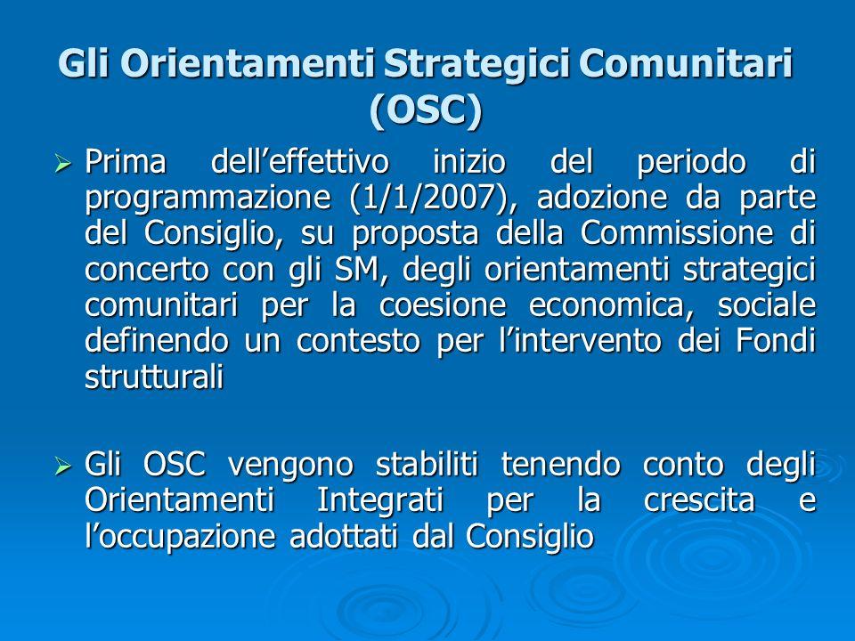 Gli Orientamenti Strategici Comunitari (OSC)