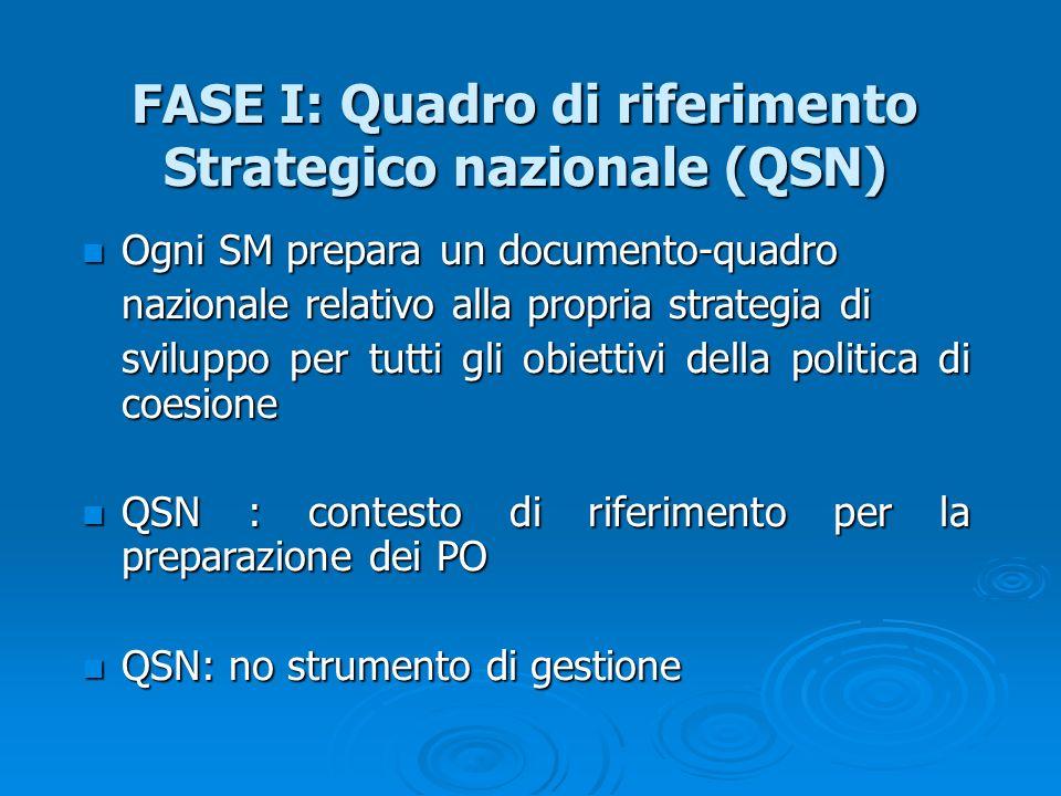 FASE I: Quadro di riferimento Strategico nazionale (QSN)