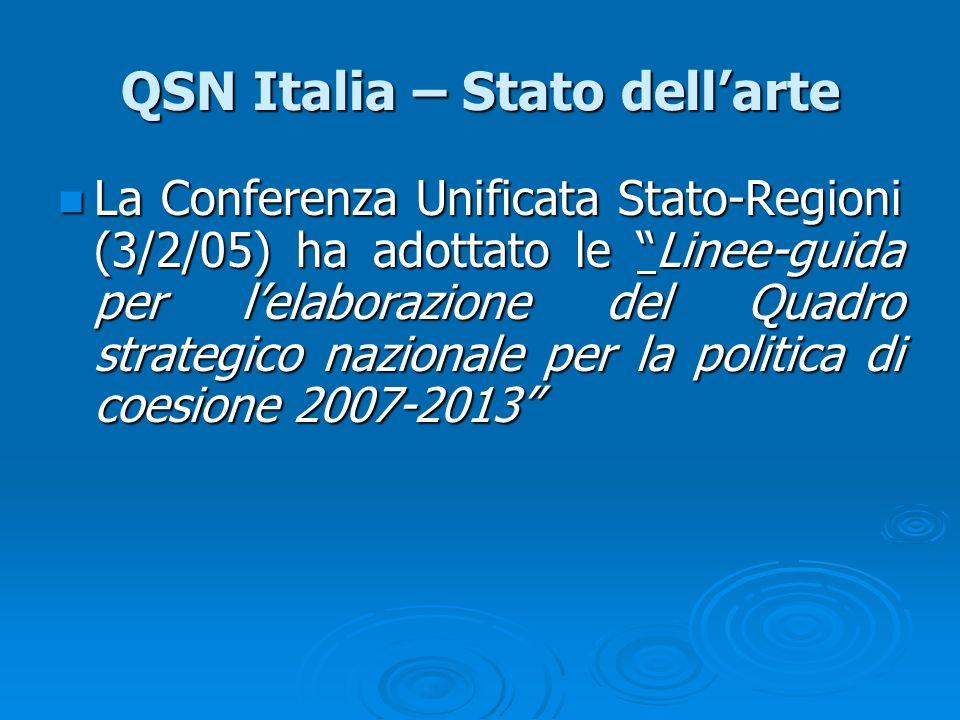 QSN Italia – Stato dell'arte