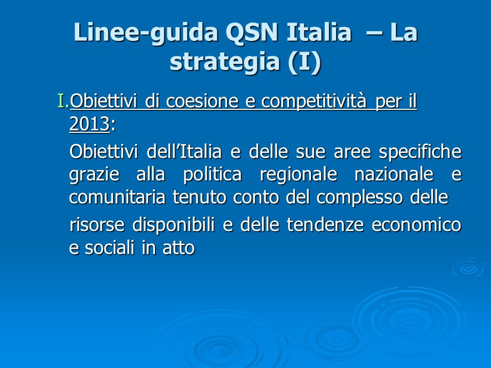 Linee-guida QSN Italia – La strategia (I)