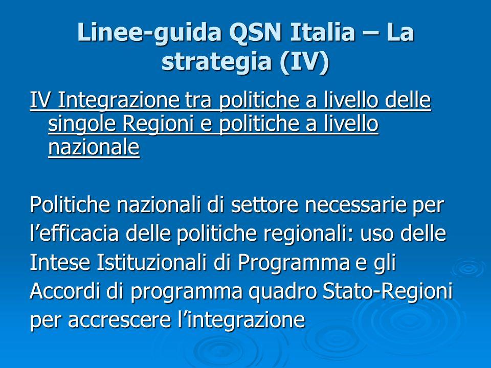 Linee-guida QSN Italia – La strategia (IV)