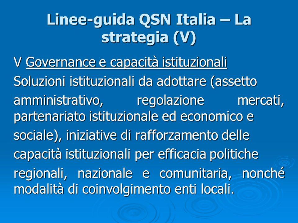 Linee-guida QSN Italia – La strategia (V)