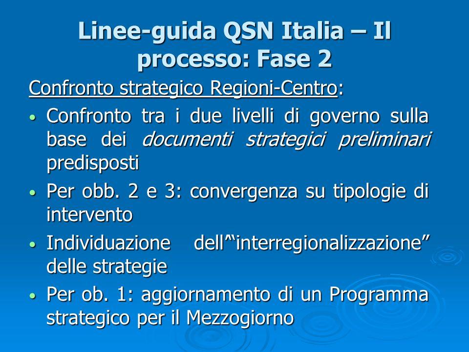 Linee-guida QSN Italia – Il processo: Fase 2