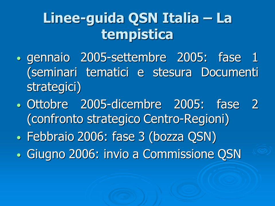 Linee-guida QSN Italia – La tempistica