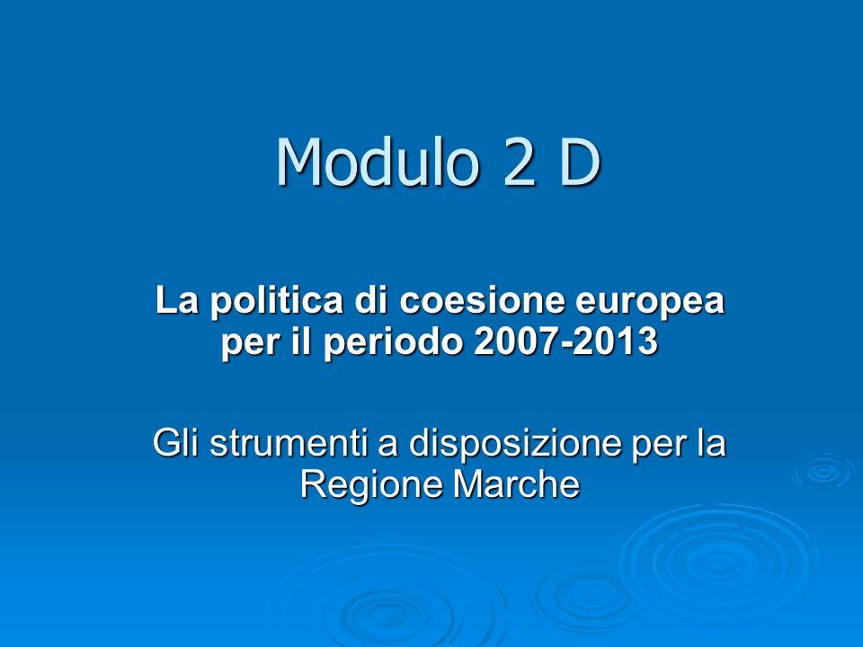 La politica di coesione europea per il periodo 2007-2013