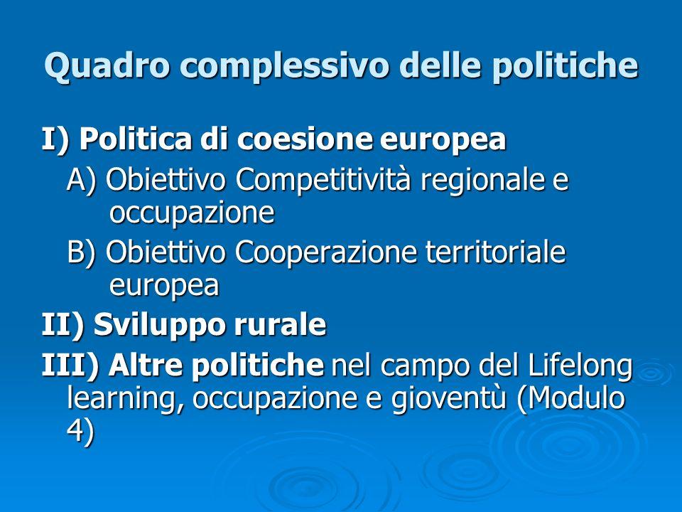 Quadro complessivo delle politiche