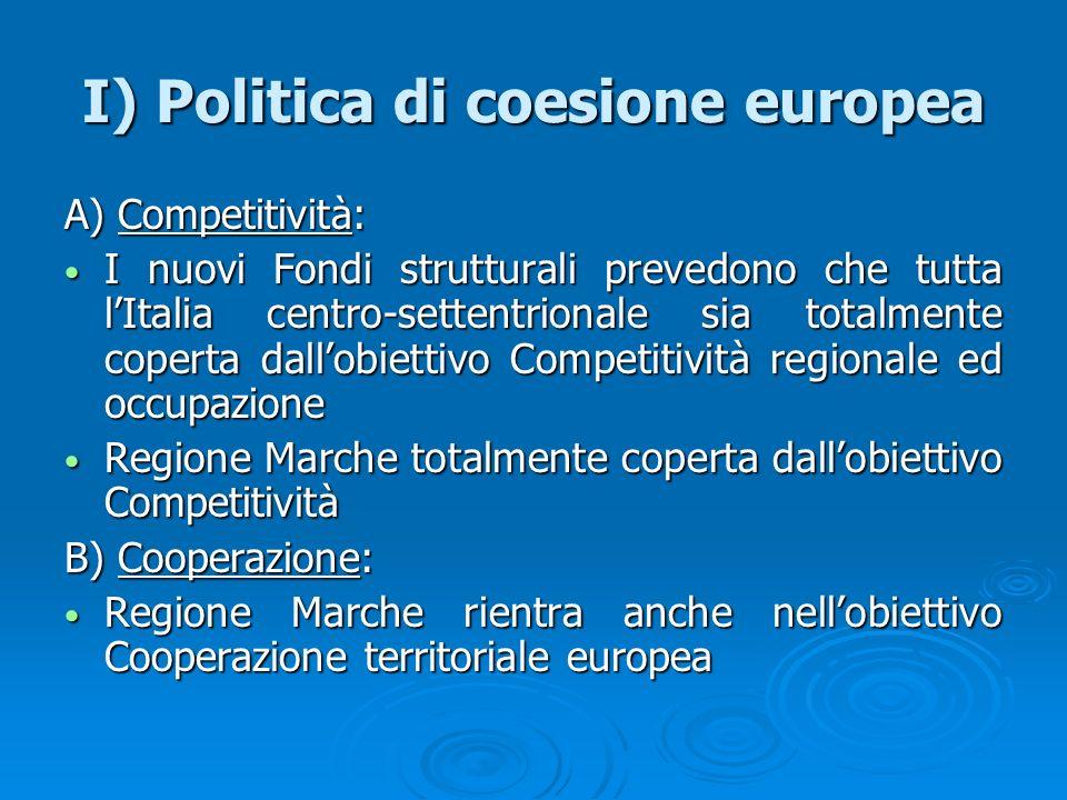 I) Politica di coesione europea