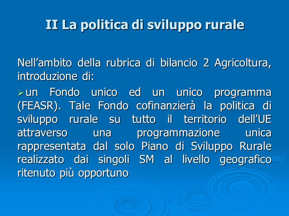 II La politica di sviluppo rurale
