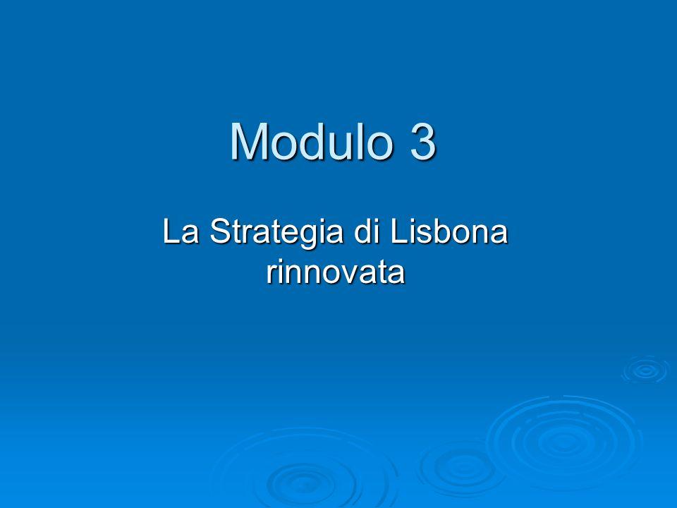La Strategia di Lisbona rinnovata