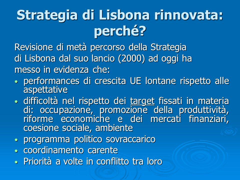 Strategia di Lisbona rinnovata: perché