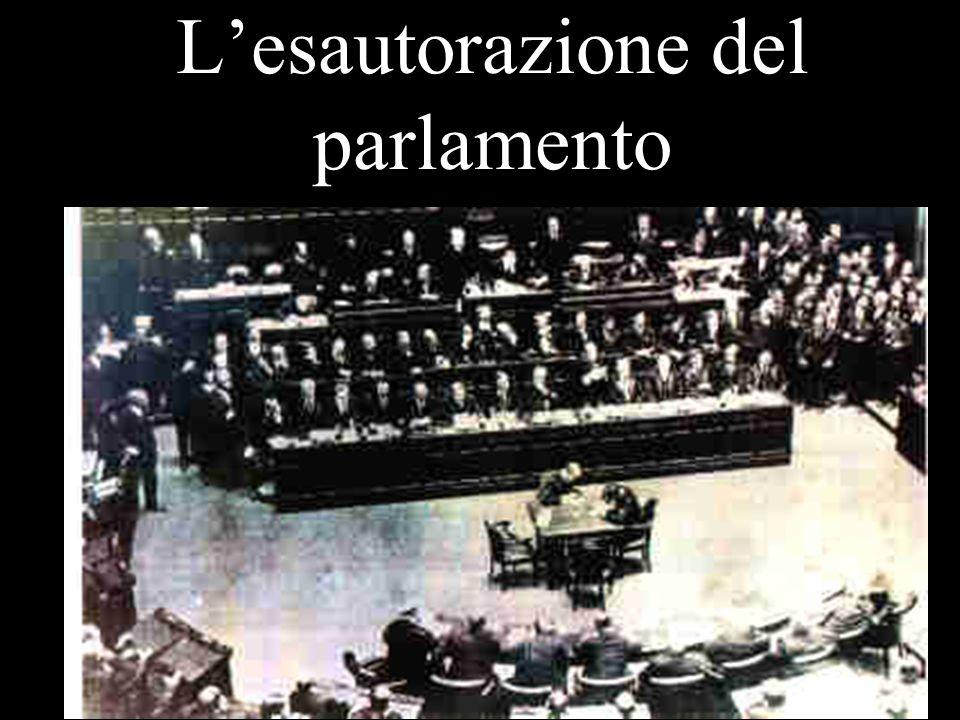 L'esautorazione del parlamento