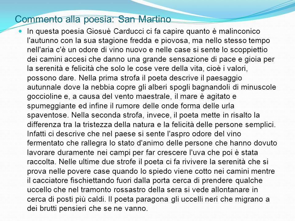 Commento alla poesia: San Martino