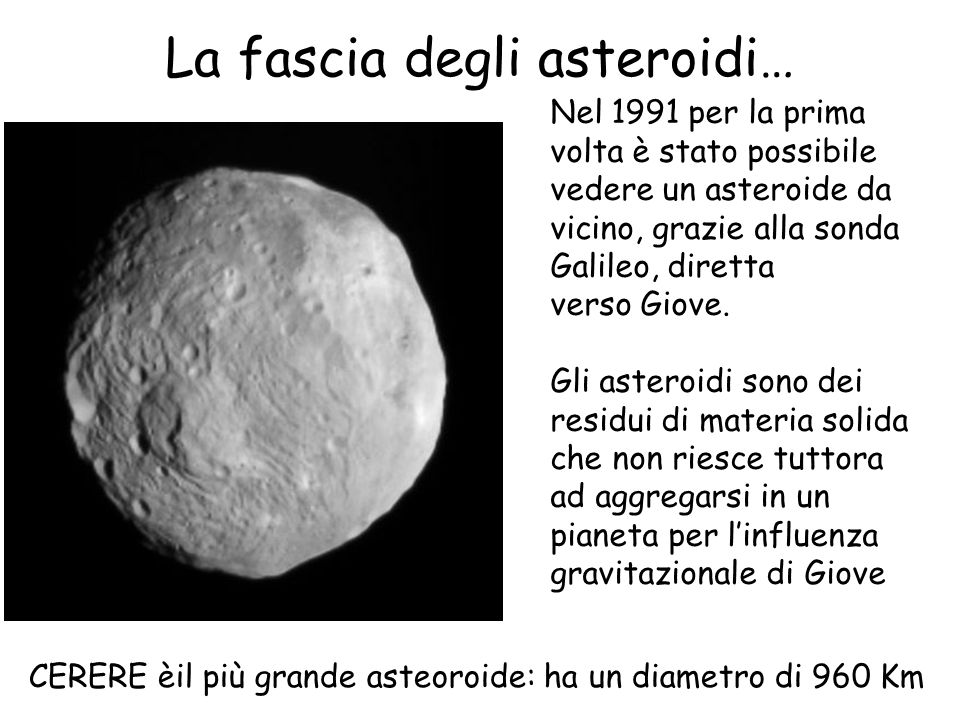 La fascia degli asteroidi…