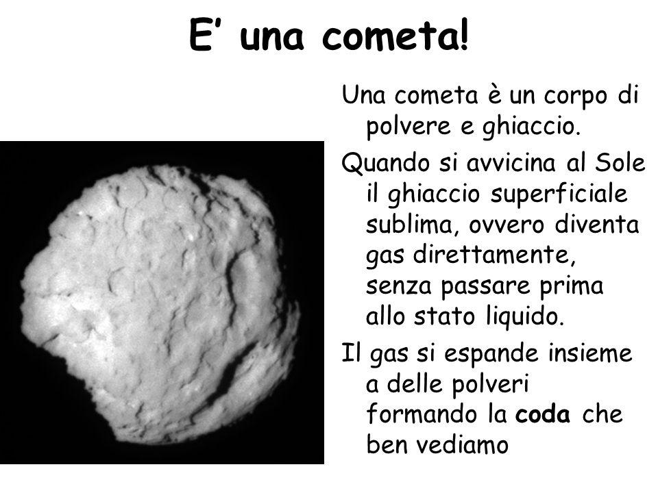 E' una cometa! Una cometa è un corpo di polvere e ghiaccio.