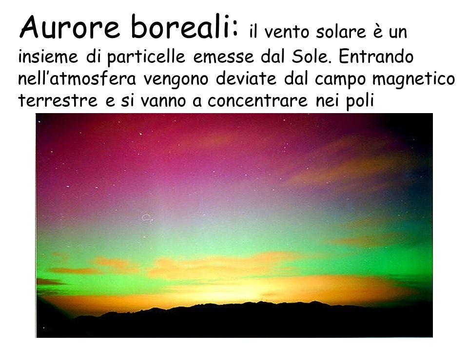 Aurore boreali: il vento solare è un insieme di particelle emesse dal Sole.