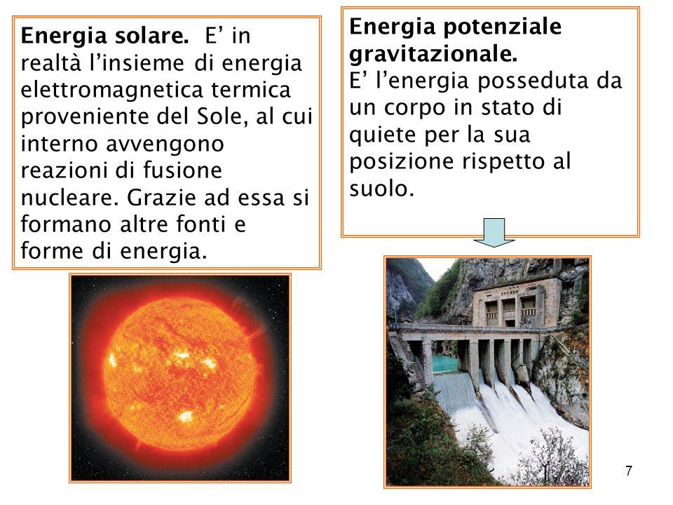 Energia potenziale gravitazionale.