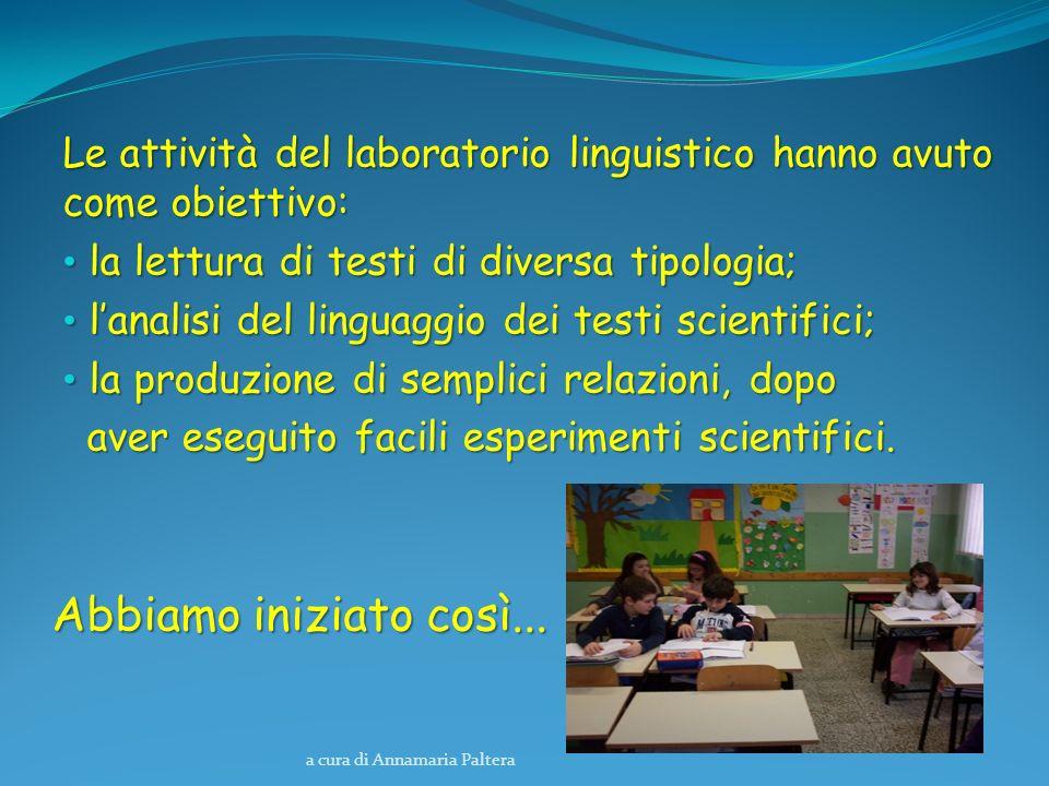 Le attività del laboratorio linguistico hanno avuto come obiettivo: