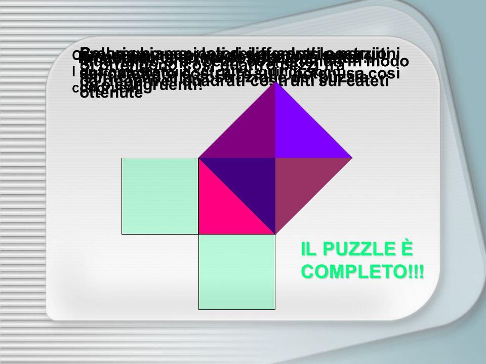 Prolunghiamo i lati dei quadrati costruiti sui cateti