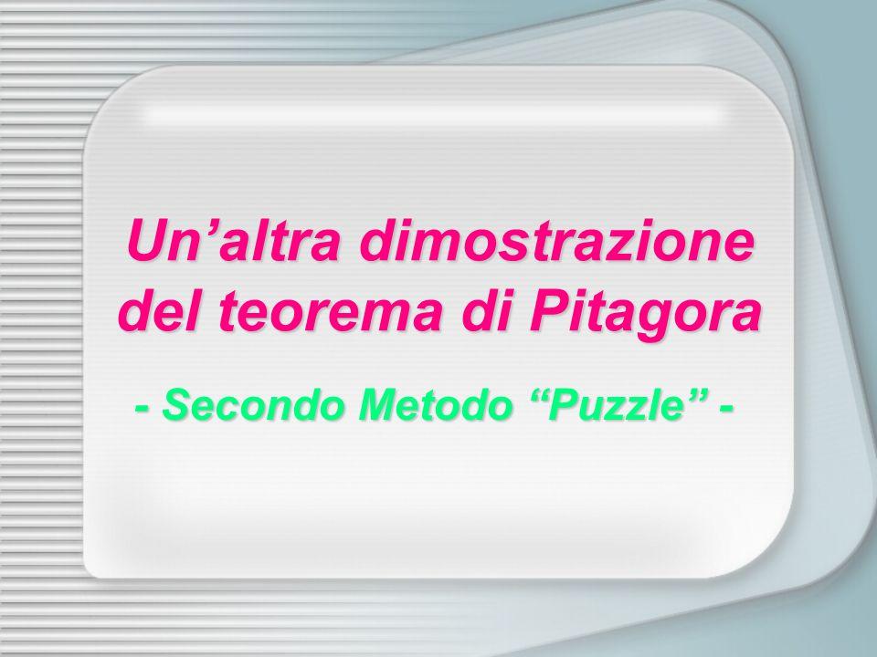 Un'altra dimostrazione del teorema di Pitagora