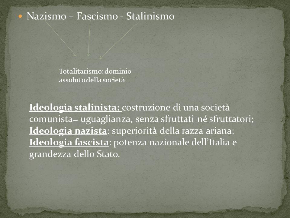 Nazismo – Fascismo - Stalinismo