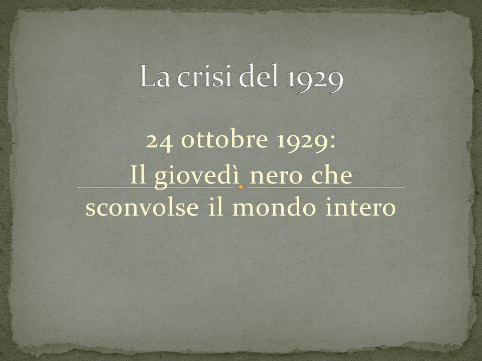 24 ottobre 1929: Il giovedì nero che sconvolse il mondo intero