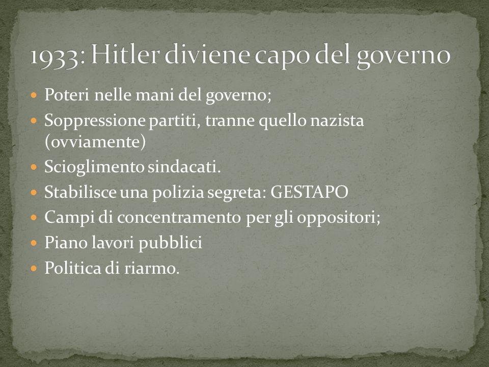 1933: Hitler diviene capo del governo