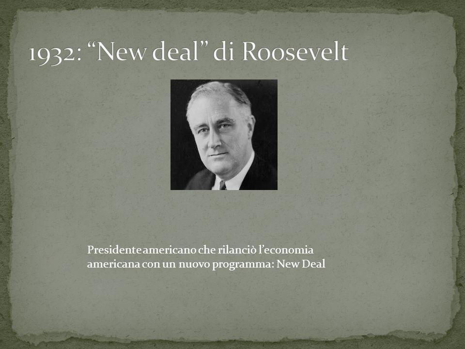 1932: New deal di Roosevelt