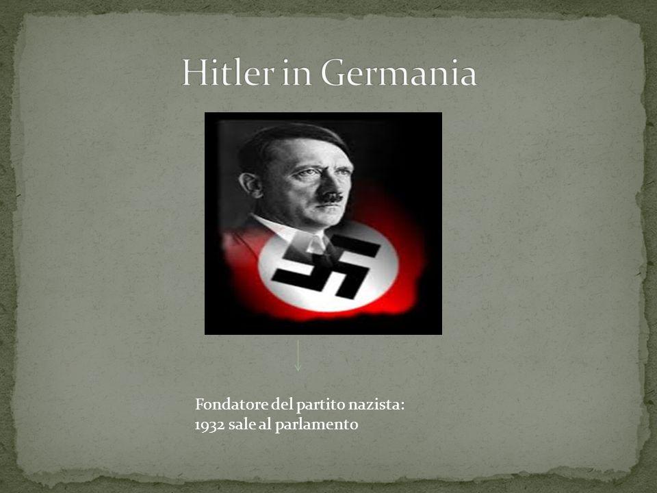 Hitler in Germania Fondatore del partito nazista: