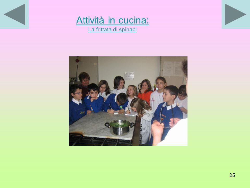 Attività in cucina: La frittata di spinaci