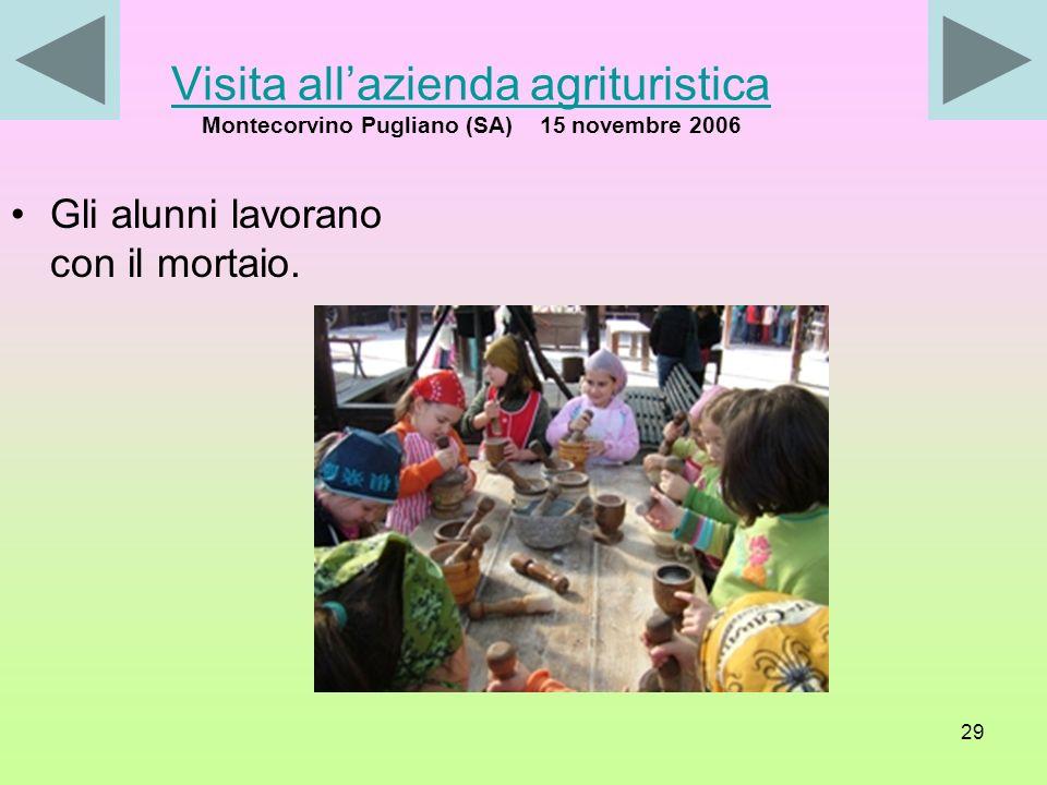 Visita all'azienda agrituristica Montecorvino Pugliano (SA) 15 novembre 2006