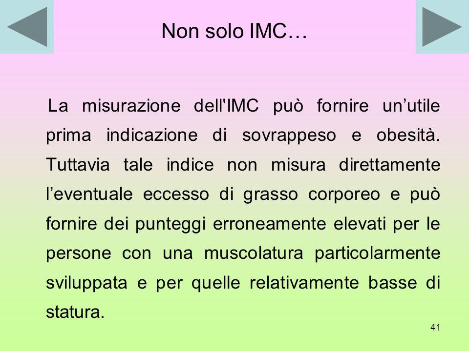 Non solo IMC…