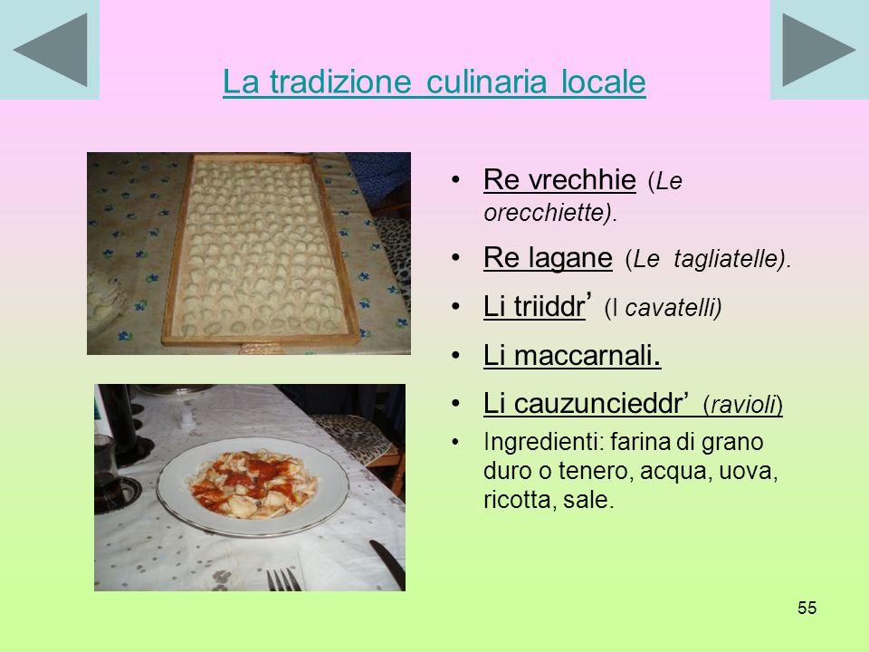 La tradizione culinaria locale