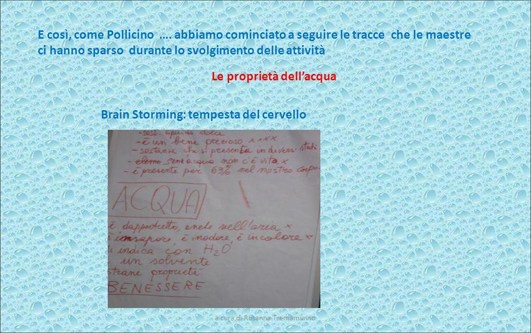 Le proprietà dell'acqua Brain Storming: tempesta del cervello