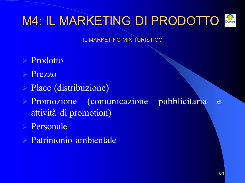 IL MARKETING MIX TURISTICO