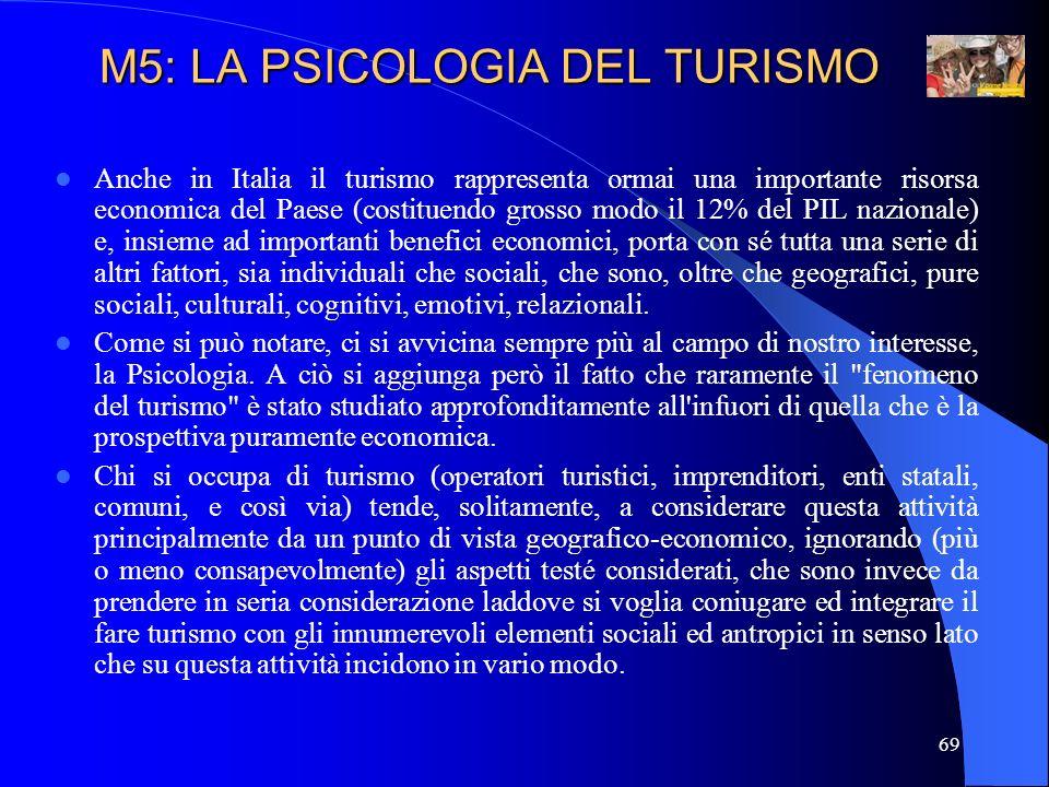 M5: LA PSICOLOGIA DEL TURISMO