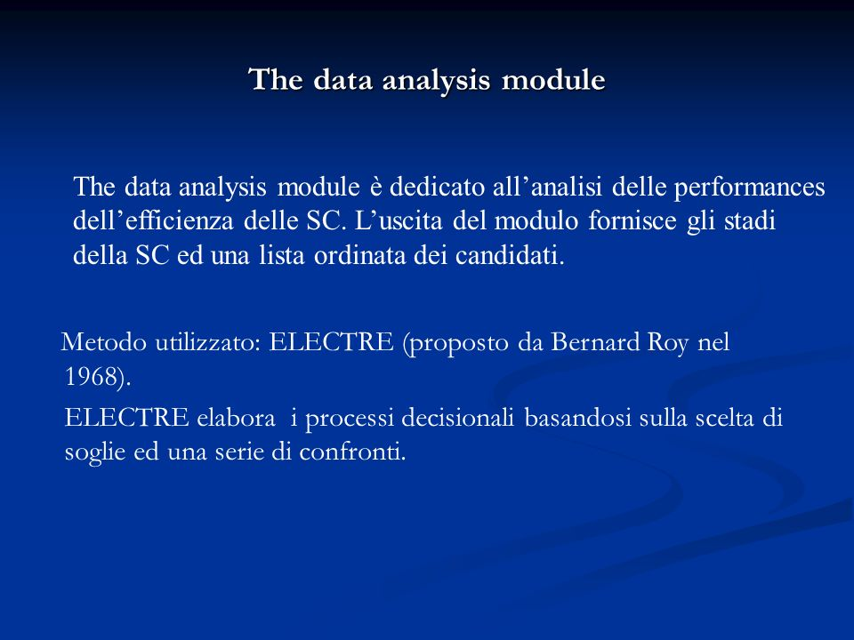 The data analysis module
