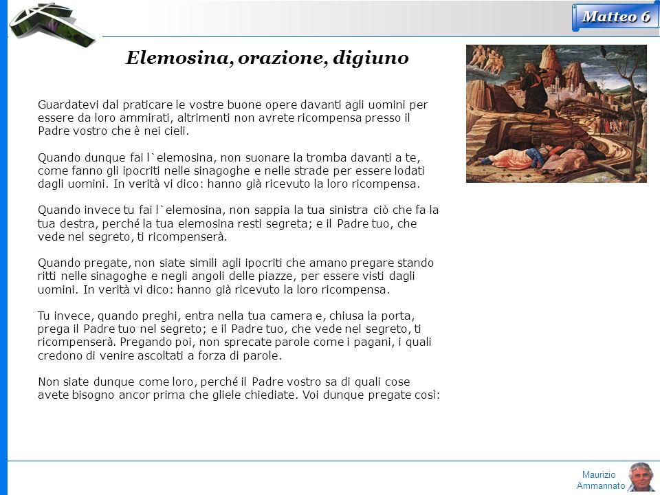 Elemosina, orazione, digiuno