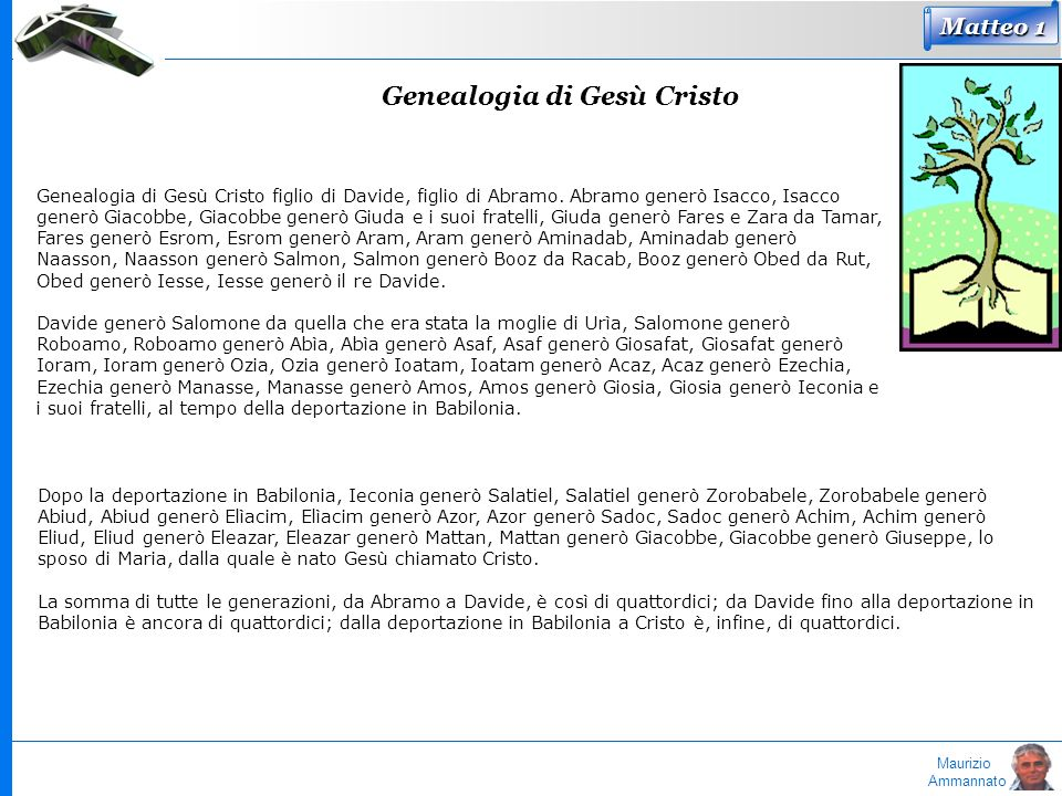 Genealogia di Gesù Cristo