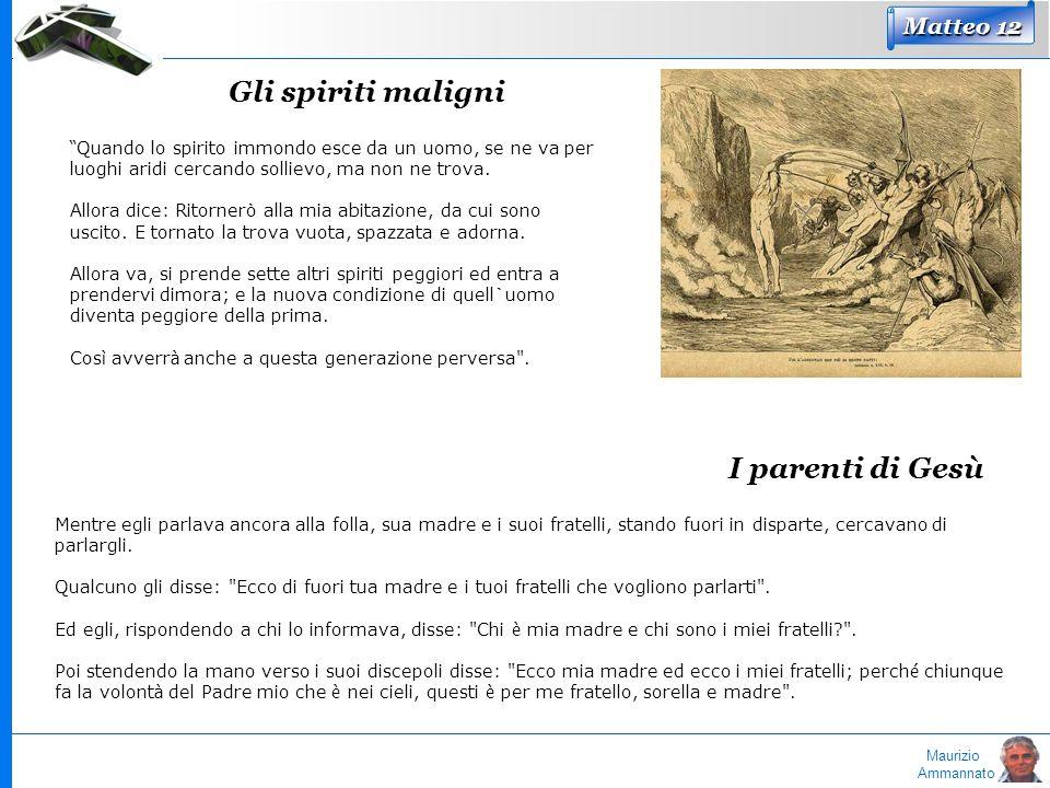 Gli spiriti maligni I parenti di Gesù Matteo 12