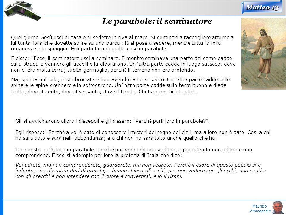Le parabole: il seminatore
