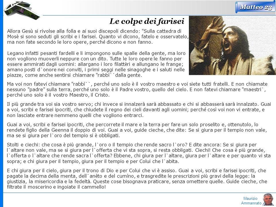 Le colpe dei farisei Matteo 23