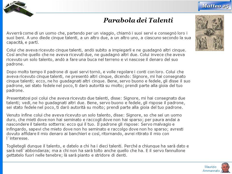 Parabola dei Talenti Matteo 25