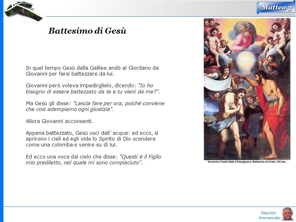 Battesimo di Gesù Matteo 3